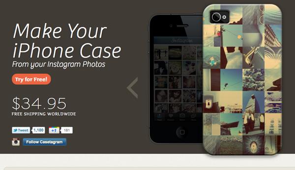 Casetagramサイト画面