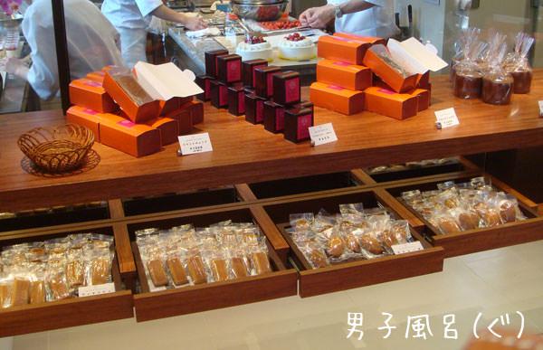 焼き菓子ディスプレイ風景