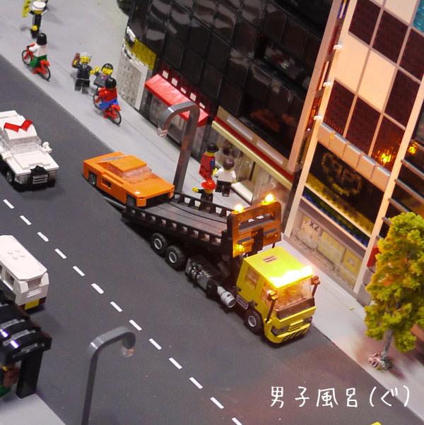 レゴ 車をトラックに乗せる