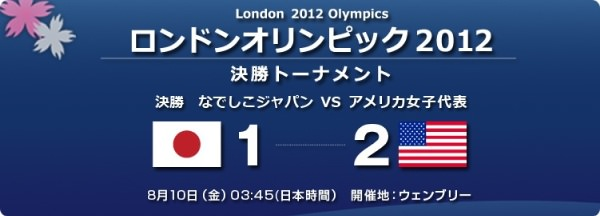 なでしこジャパン オリンピック決勝