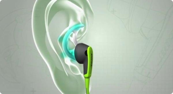 bose SIE2 sport headphones 耳への入れ方