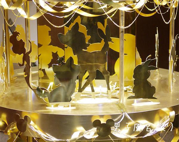 ディズニー ゴールドクリスマスツリー バンビ
