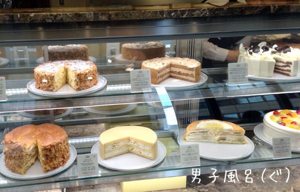 ハーブス ショーウィンドウのケーキ