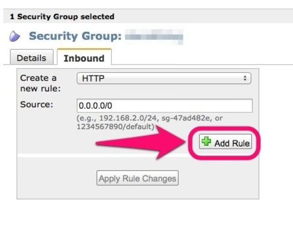 「Security Groups」のHTTPを設定