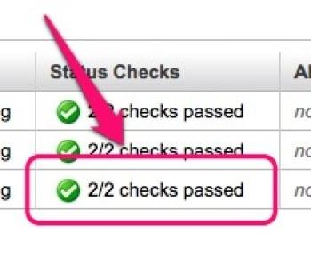 インスタンス「2/2 checks passed」