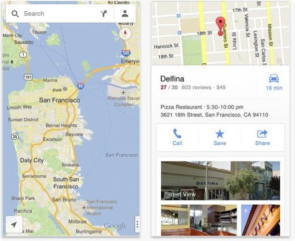 google map iphone app ad