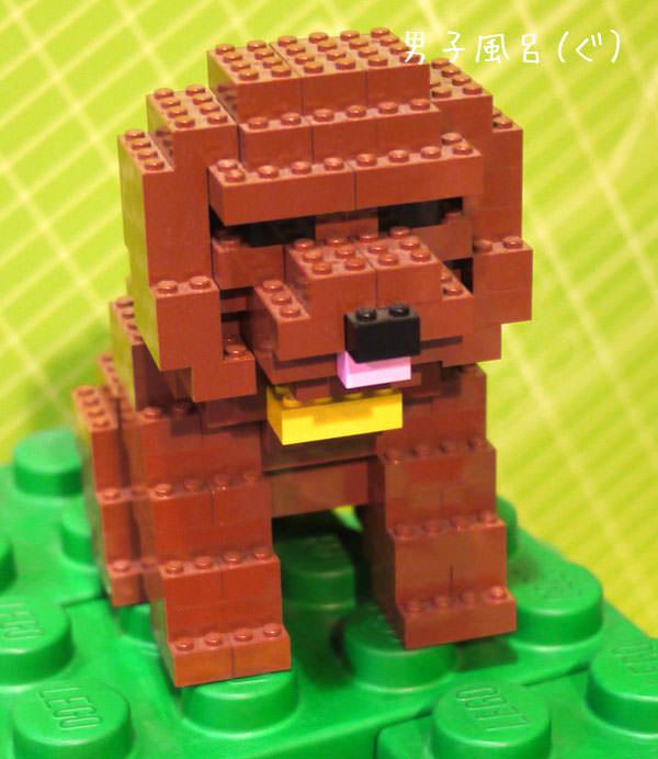 大澤よしひろ作品 レゴの犬