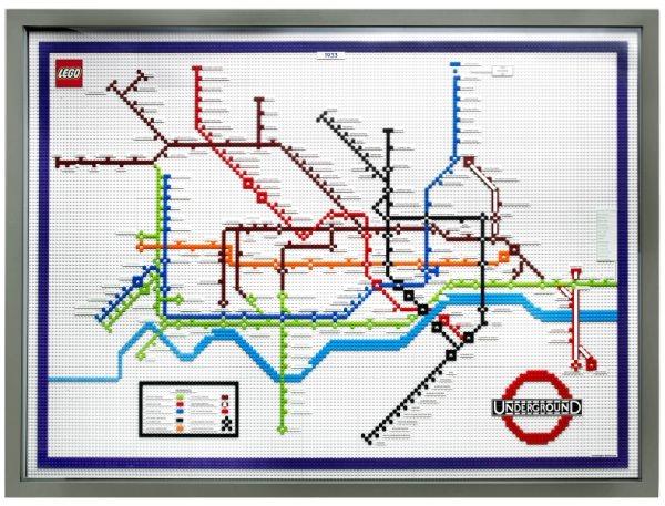 レゴで出来たロンドンの地下鉄マップ 1933年