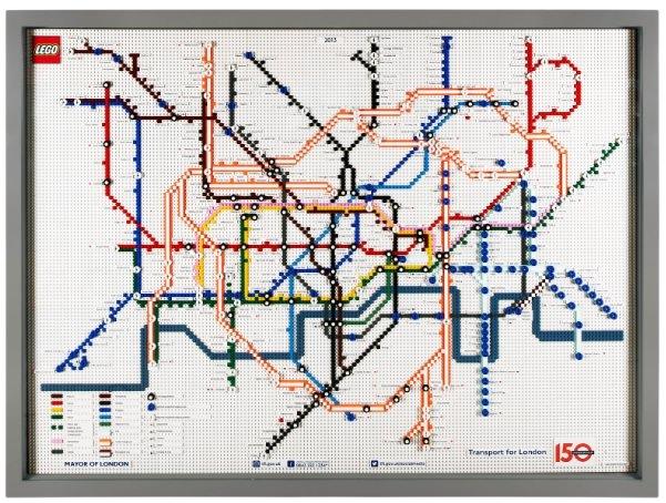 レゴで出来たロンドンの地下鉄マップ 2013年