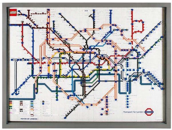 レゴで出来たロンドンの地下鉄マップ 2020年