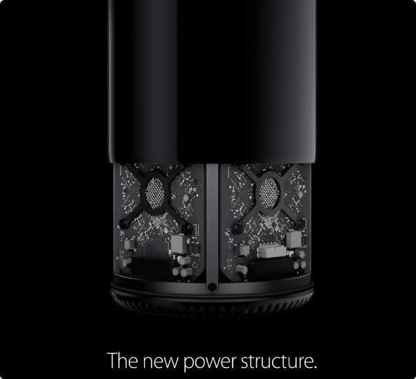 apple new macpro 中のパーツ
