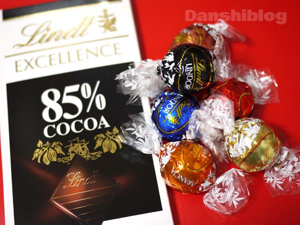 リンツチョコレート リンドールと85%カカオタブレット