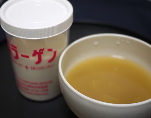 新田ゼラチンダイレクト コラゲネイドと味噌汁画像
